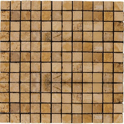 "Emser Tile Natural Stone 1"" x 1"" Travertine Mosaic Tile in Oro"