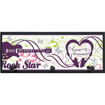 Illumalite Designs Rock Star Painting Print on Plaque with Pegs
