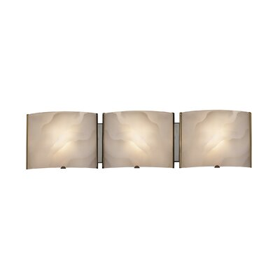 Transitional 3 Light Ampere Bath Vanity Light Product Photo
