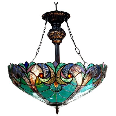 Victorian 2 Light Liaison Inverted Ceiling Pendant by Chloe Lighting