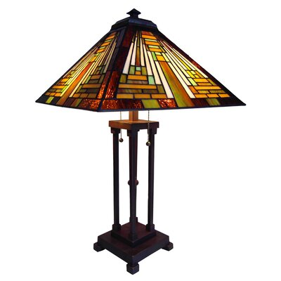 """Chloe Lighting Mission 23"""" H Table Lamp with Empire Shade"""