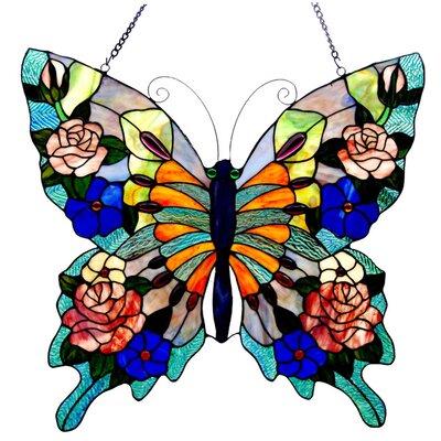 Chloe Lighting Tiffany Butterfly Window Panel