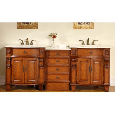 "Savannah 84"" Double Bathroom Vanity Set Product Photo"