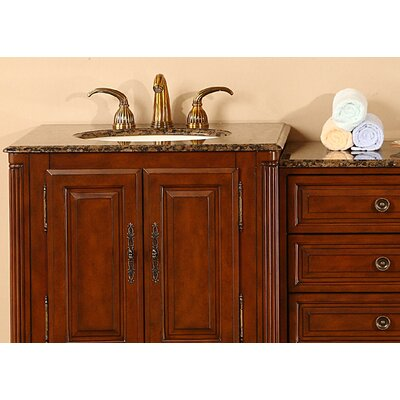 "Silkroad Exclusive Allegheny 76"" Double Bathroom Vanity Set"