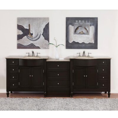 "Hamilton 95"" Double Bathroom Vanity Set Product Photo"