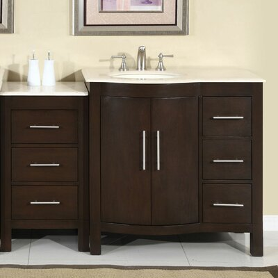 silkroad exclusive kimberly 54 single bathroom vanity set reviews wayfair. Black Bedroom Furniture Sets. Home Design Ideas