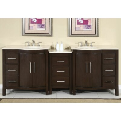 """Kimberly 89"""" Double Bathroom Vanity Set Product Photo"""