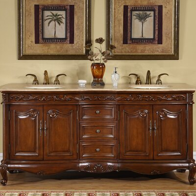 "Nassau 72"" Double Bathroom Vanity Set Product Photo"