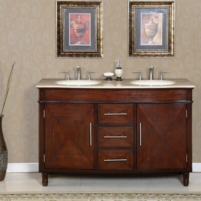 "Cambridge 55"" Double Bathroom Vanity Set Product Photo"