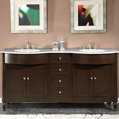 """Kelston 72"""" Double Bathroom Vanity Set Product Photo"""