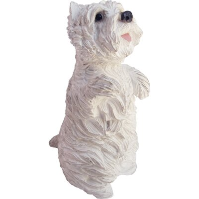Small Size Sitting Pretty West Highland Terrier Sculpture by Sandicast