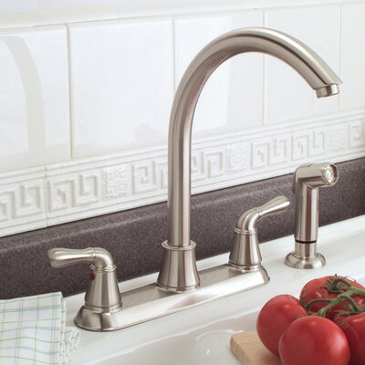 Sanibel Two-Handle Kitchen Faucet with Matching Spray Product Photo