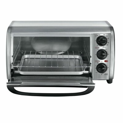 4-Slice Stainless Steel Toaster Oven by Black & Decker