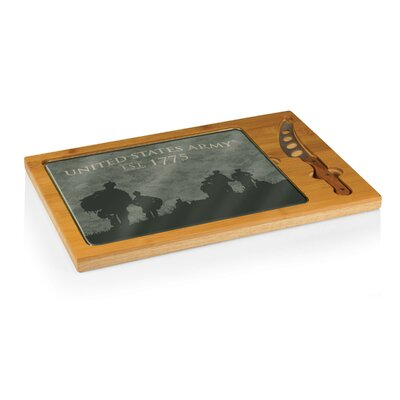 Army Icon Soldier Silhouettes Cutting Board by Picnic Time