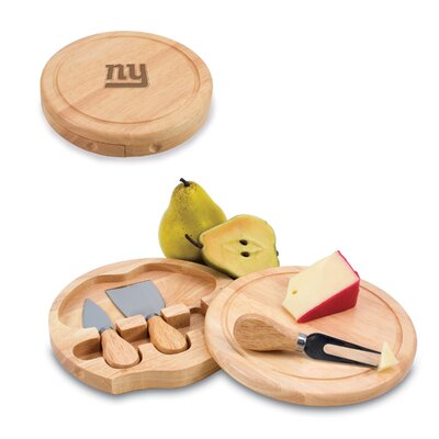 Picnic Time NFL Brie Engraved Cheese Tray