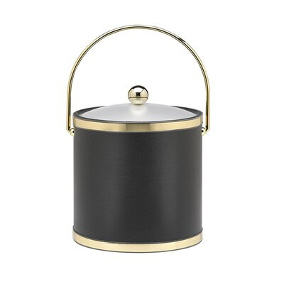 Kraftware Sophisticates 3 Qt Ice Bucket with Acrylic Cover in Black