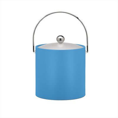 Kraftware Bartender's Choice Fun Colors 3 Qt Ice Bucket in Process Blue