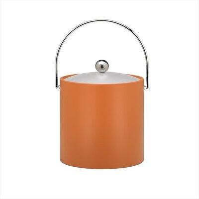 Kraftware Bartender's Choice Fun Colors 3 Qt Ice Bucket in Spicy Orange