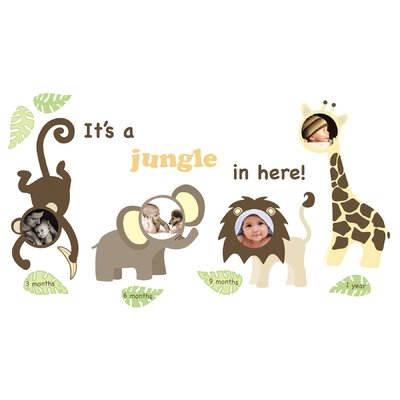 WallPops! Wall Art Kit Jungle and Friends Photo Frame Wall Decal