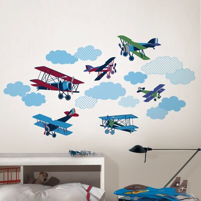 WallPops! Wall Art Kit Mighty Vintage Planes Wall Decal