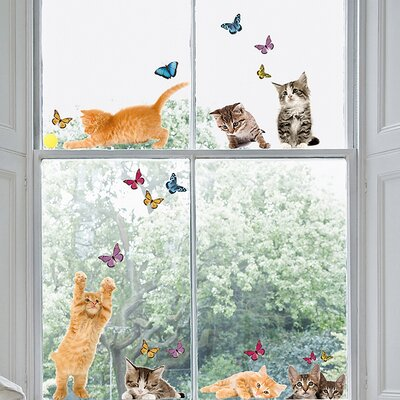 Euro Cats Window Sticker by Brewster Home Fashions