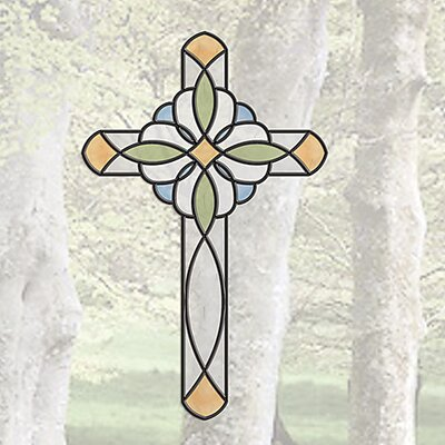 Window Decor Peel and Stick Cross Window Sticker by Brewster Home Fashions