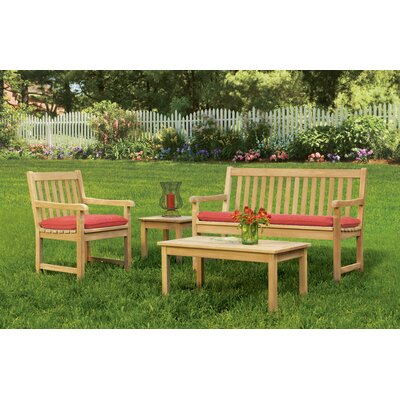 Classic 4 Piece Seating Group with Cushions by Oxford Garden