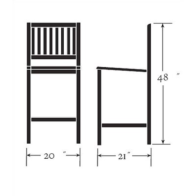 Oxford Garden Sonoma 3 Piece Dining Set