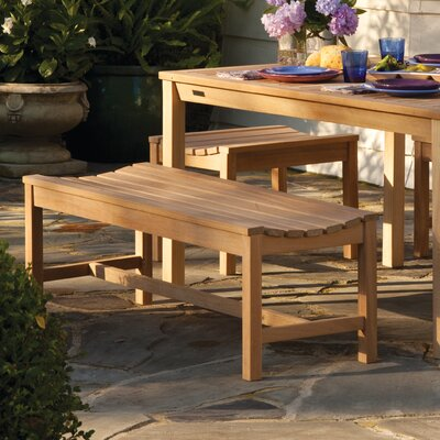 Oxford Garden Siena Backless Wood Picnic Bench