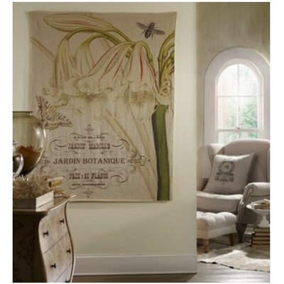 French Linen Jardin Graphic Art on Wrapped Canvas by Tapestries, Ltd.