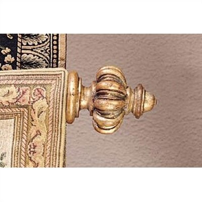 Baroque Gold Olympia Finials & Rod by Tapestries, Ltd.