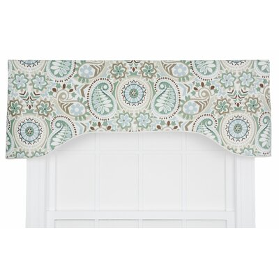 Paisley Prism Jacobean Floral Print Lined Arched Curtain Valance Product Photo