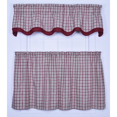 "Ellis Curtain Bristol Plaid 70"" Curtain Valance"
