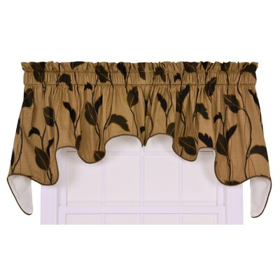"Riviera Large Scale Leaf and Vine Lined Duchess 100"" Curtain Valance Product Photo"