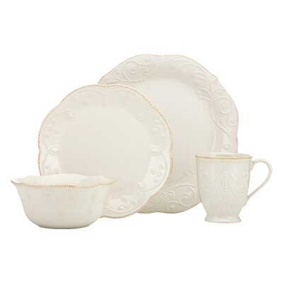 French Perle Ace 4 Piece Place Setting by Lenox