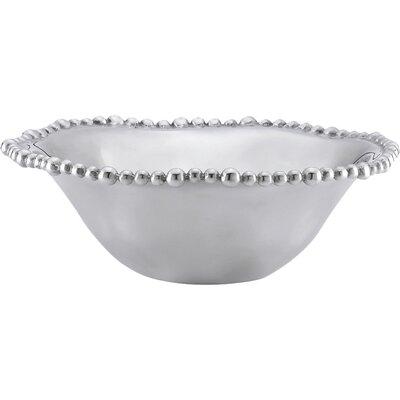 Lenox Organics Bead Aluminum Alloy Beaded Serving Bowl