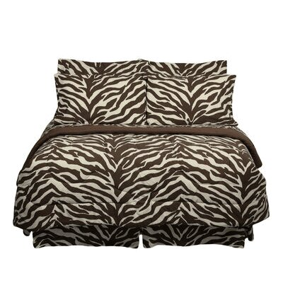 Brown Zebra Bed in a Bag Collection by Karin Maki