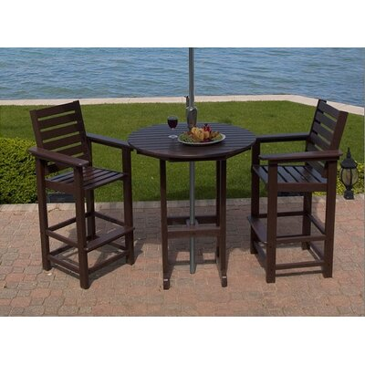 Captain 3 Piece Dining Set by POLYWOOD®