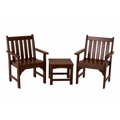Vineyard 3 Piece Garden Chair Set by POLYWOOD®