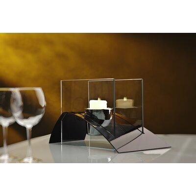 Decorpro Allusion Steel Bio Ethanol Tabletop Fireplace