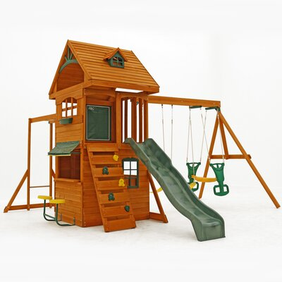 Ridgeview Deluxe Clubhouse Wooden Swing Set Product Photo