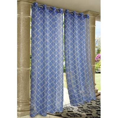 Outdoor Décor Wrought Iron Single Curtain Panel Product Photo