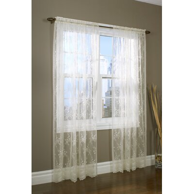 Rod Pocket Bridal Lace Single Curtain Panel Product Photo