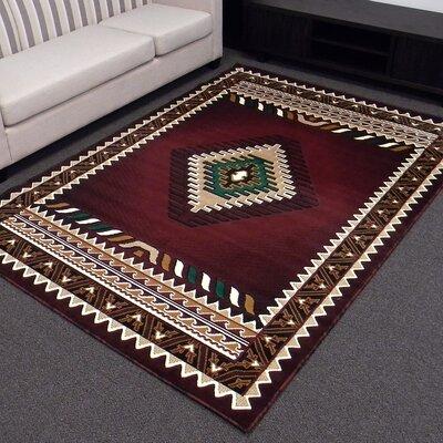 donnieann company kingdom burgundy southwest native american area rug reviews wayfair. Black Bedroom Furniture Sets. Home Design Ideas