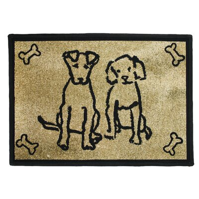 PB Paws & Co. Gold Dog Friends Tapestry Indoor/Outdoor Area Rug by Park B Smith ...
