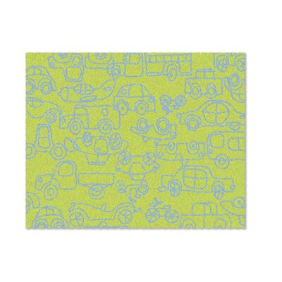 notNeutral Kids Transport Green/Ozone Blue Area Rug