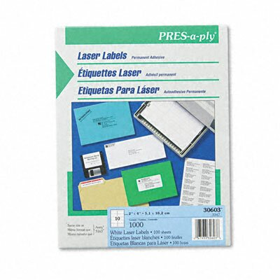 Avery PRES-a-ply Mailing Labels