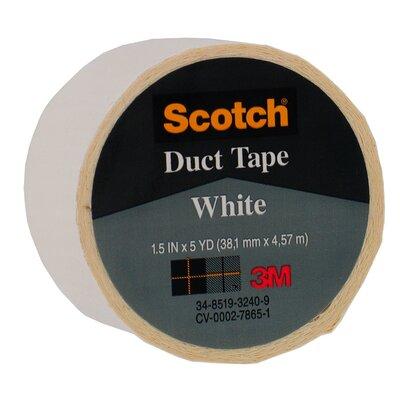 "Bussman 1.5"" X 5 Yards White Scotch® Duct Tape 1005-WHT-1P"