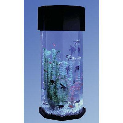 Aqua 10 Gallon Scape Octagon Aquarium Kit by Midwest Tropical Fountain
