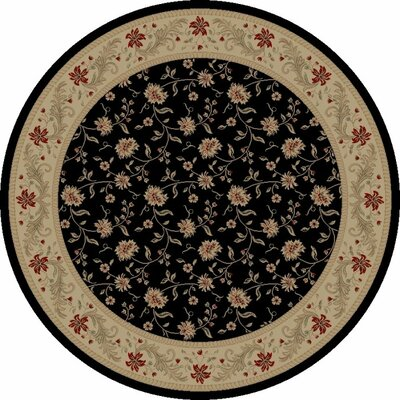 Concord Global Imports Imperial Charlemagne Black Serenity Area Rug